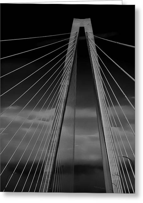 Arthur Ravenel Jr Bridge Greeting Card by DigiArt Diaries by Vicky B Fuller