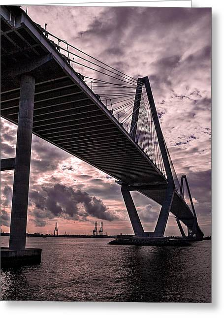 Arthur Ravenel Jr. Bridge Greeting Card by Drew Castelhano