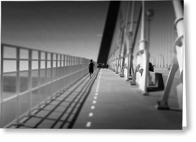 Arthur Ravenel Jr Bridge Runner Greeting Card by Ivo Kerssemakers