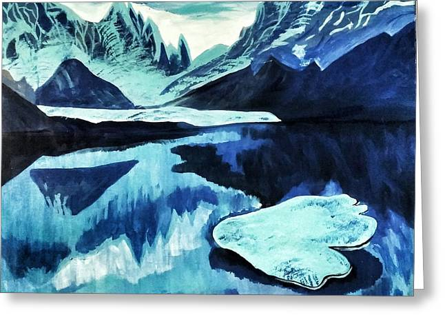 Artic Blue  Greeting Card