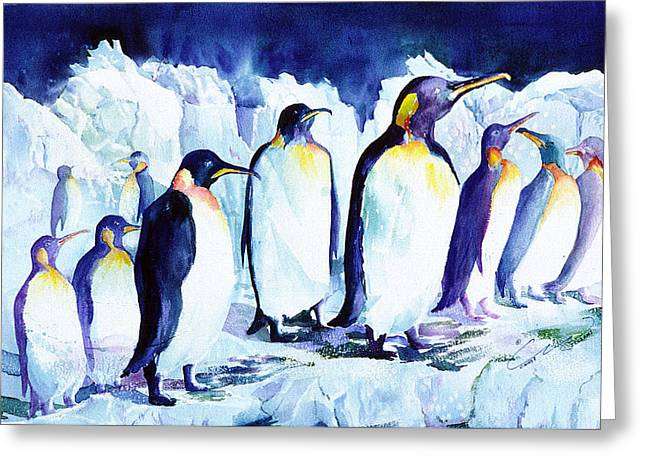Arctic Penquins Greeting Card