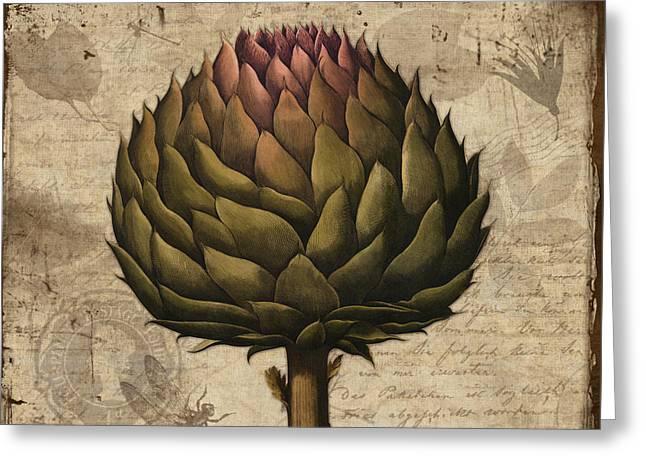 Artichoke, Cynara Scolymus Artichoke Vintage Botanicals Greeting Card