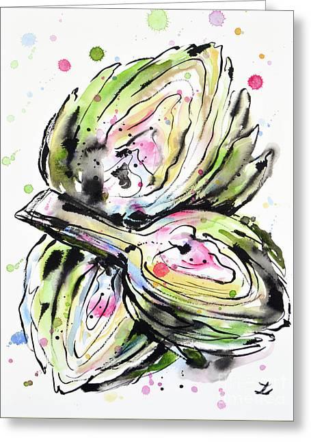 Artichoke Hearts Greeting Card