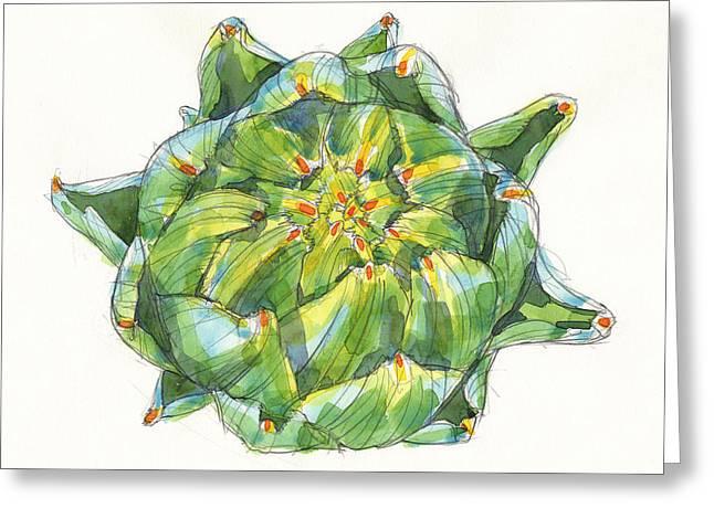 Artichoke Star Greeting Card