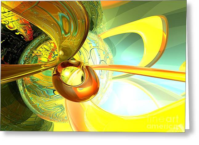 Articulate Design Abstract Greeting Card by Alexander Butler