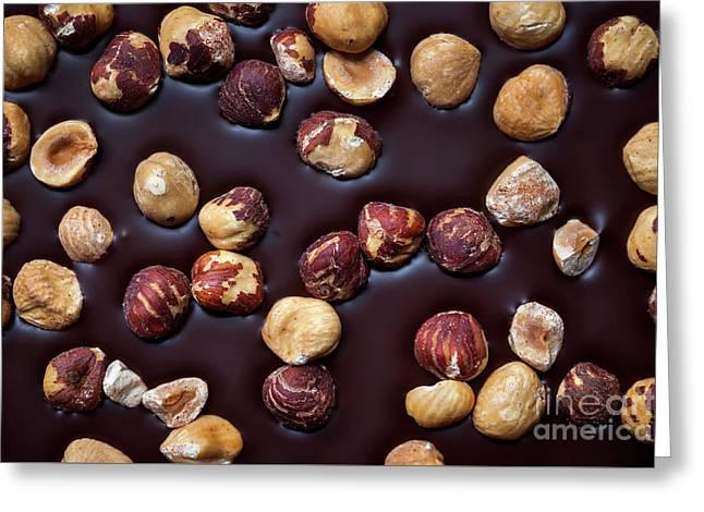 Artisanal Chocolate Closeup Greeting Card