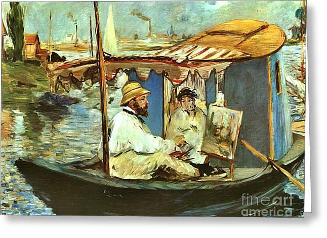 Artist Claude Monet 1874 Greeting Card