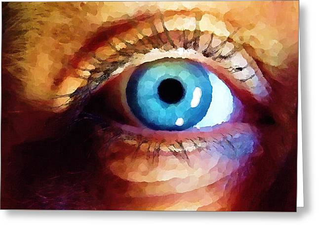 Artist Eye View Greeting Card