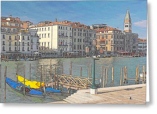 Artist Impression Of Venice Greeting Card by Johan Elzenga