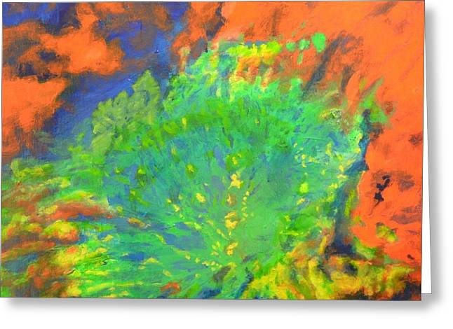 Artistarchus Crater On Moon In Reverse Color Greeting Card by Jim Ellis