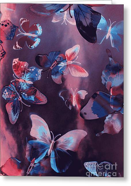 Artistic Colorful Butterfly Design Greeting Card
