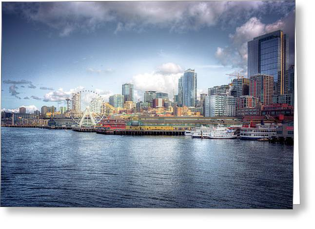 Artistic In Seattle Greeting Card by Spencer McDonald
