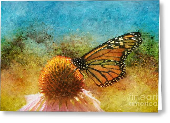 Artistic Monarch Greeting Card by Sari Sauls