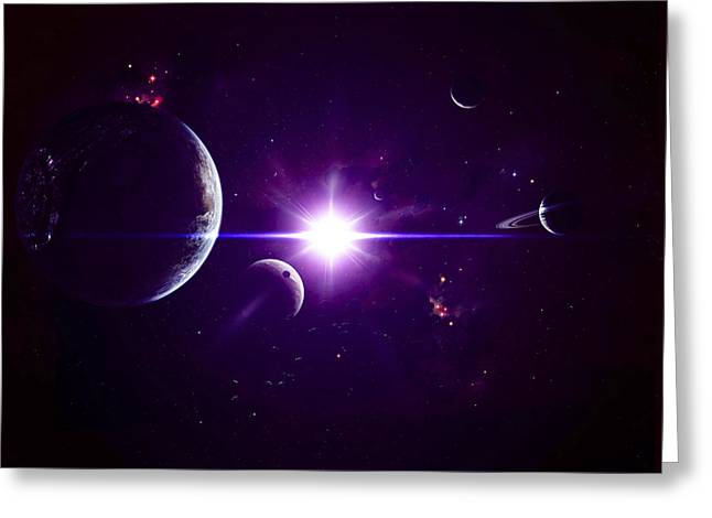 Exoplanet Greeting Cards - Artists Concept Of Jovian Planets Greeting Card by Kevin Lafin