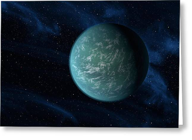 Artists Concept Of Kepler 22b, An Greeting Card by Stocktrek Images