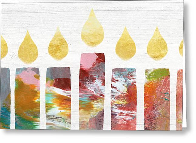 Artists Menorah- Art By Linda Woods Greeting Card