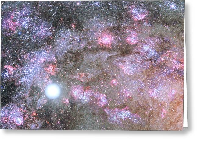 Artist's View Of A Dense Galaxy Core Forming Greeting Card