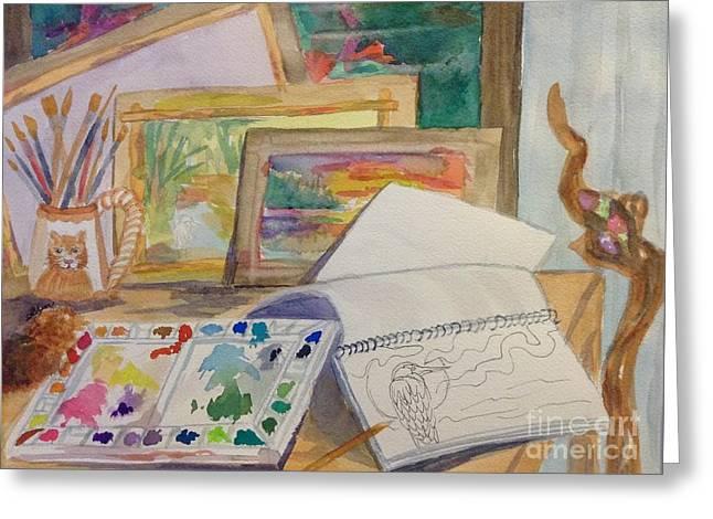 Artists Workspace - Studio Greeting Card