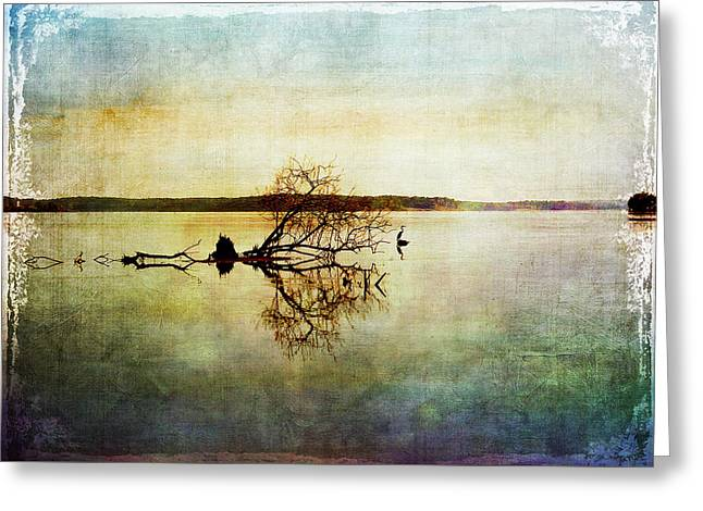 Artsy Lake Reflections Greeting Card
