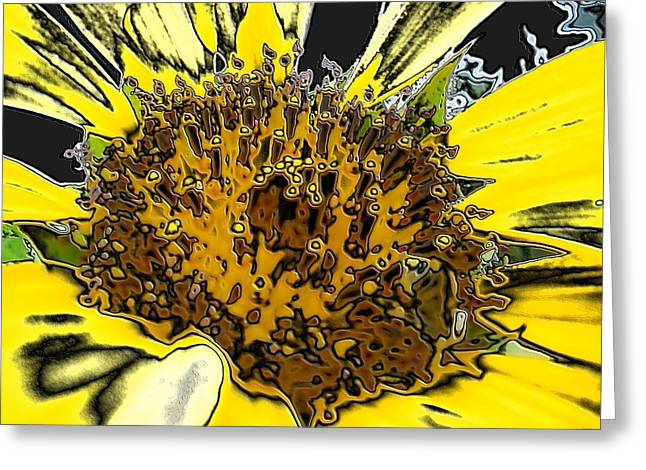 Artsy Sunflower Greeting Card