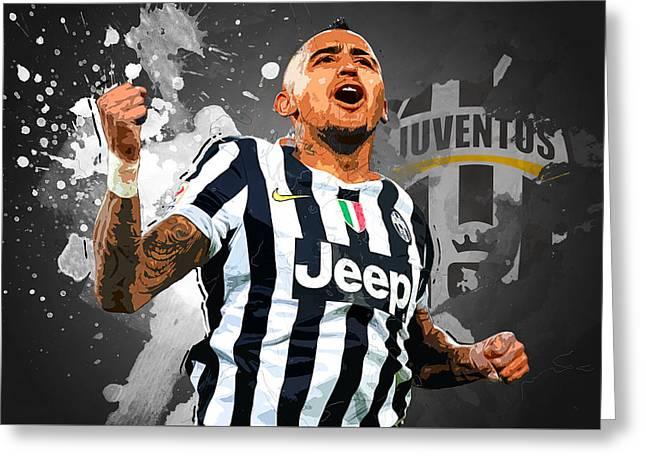 Arturo Vidal Greeting Card by Semih Yurdabak