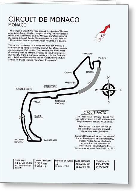 Circuit Of Monaco Greeting Card by Mark Rogan