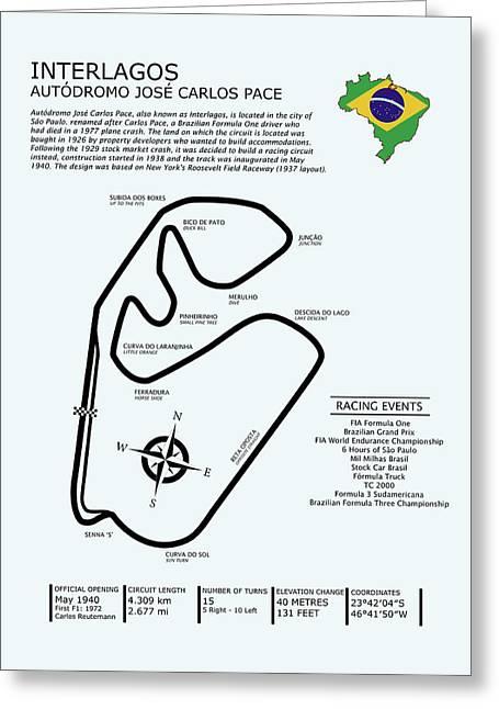 Interlagos Brazil Greeting Card by Mark Rogan