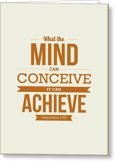 Napoleon Hill Typography Art Quotes Poster Greeting Card by Lab No 4 - The Quotography Department