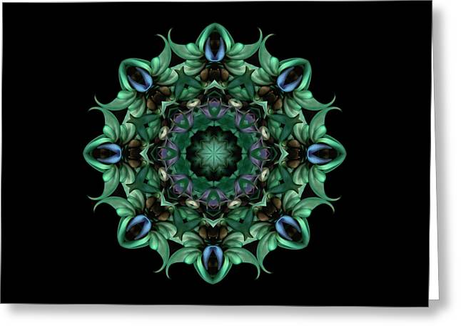Sacred Aspects - Divine Feminine Greeting Card by Karen Casey-Smith