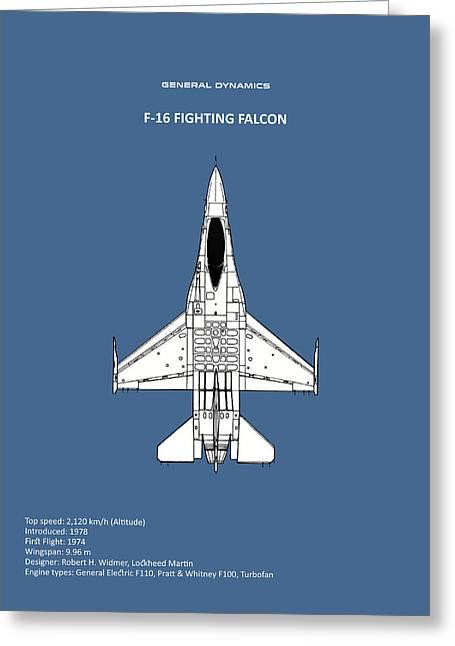 F-16 Fighting Falcon Greeting Card by Mark Rogan