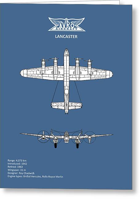 Avro Lancaster Greeting Card by Mark Rogan