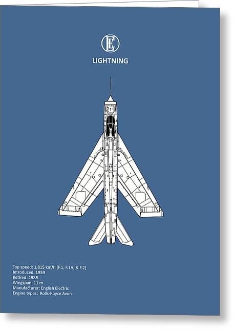 The Lightning Greeting Card by Mark Rogan