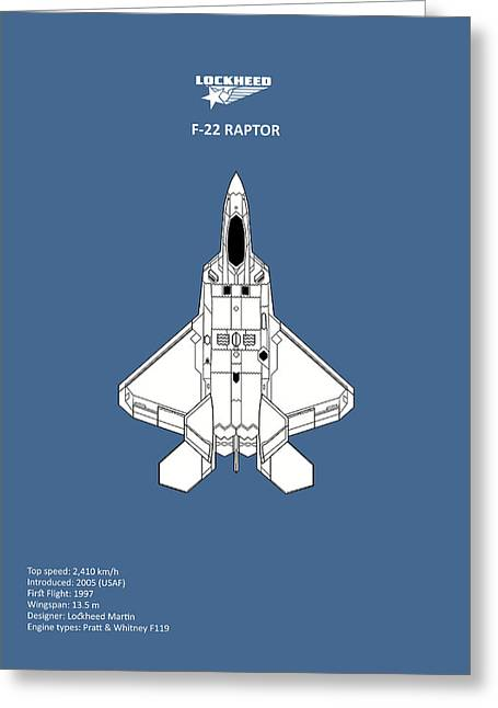 The F-22 Raptor Greeting Card by Mark Rogan