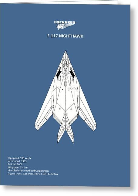 F-117 Nighthawk Greeting Card by Mark Rogan
