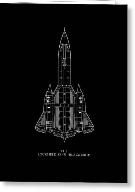 The Lockheed Sr-71 Blackbird Greeting Card by Mark Rogan