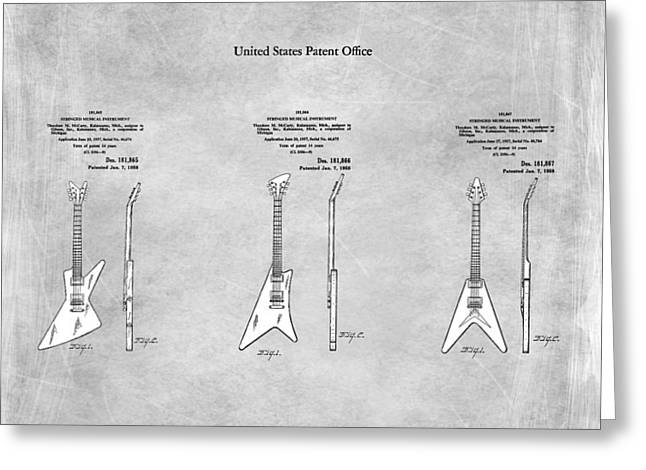 Gibson Guitar Patents 1958 Greeting Card