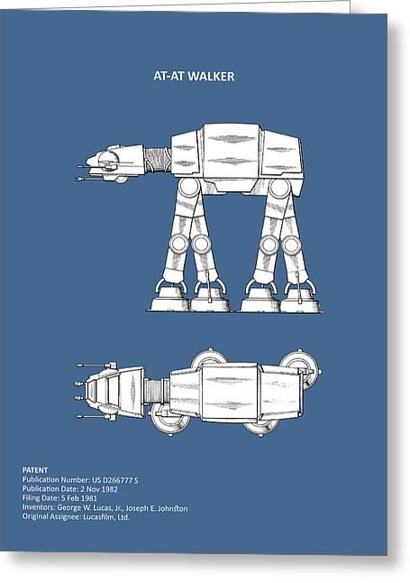Star Wars - At-at Patent Greeting Card