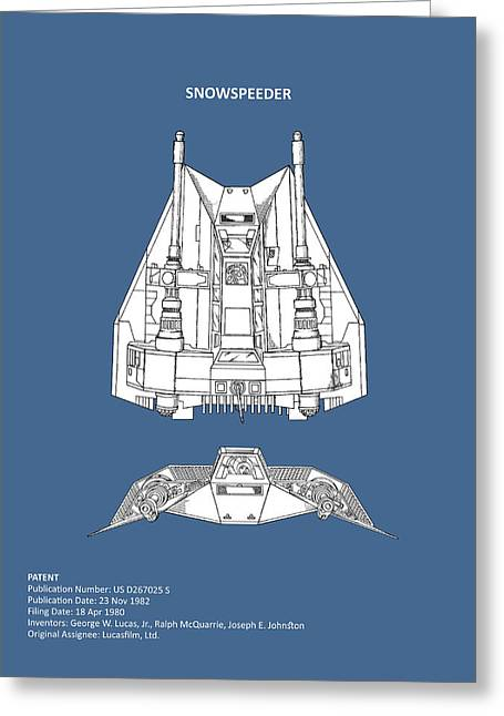 Star Wars - Snowspeeder Patent Greeting Card