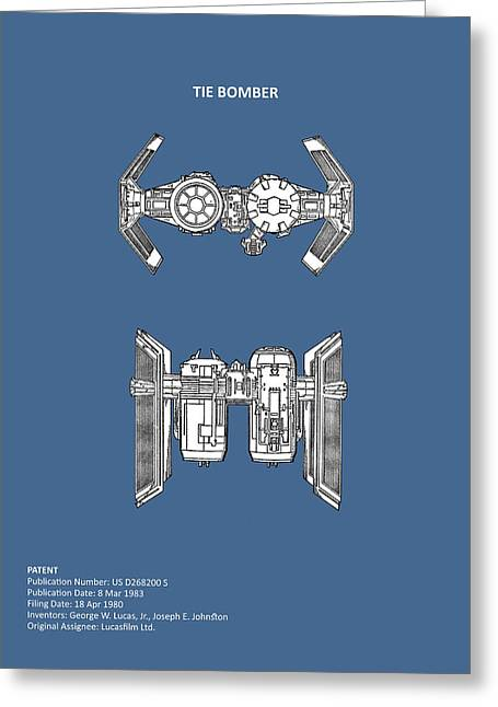 Star Wars - Spaceship Patent Greeting Card by Mark Rogan