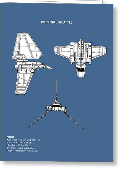 Star Wars - Shuttle Patent Greeting Card