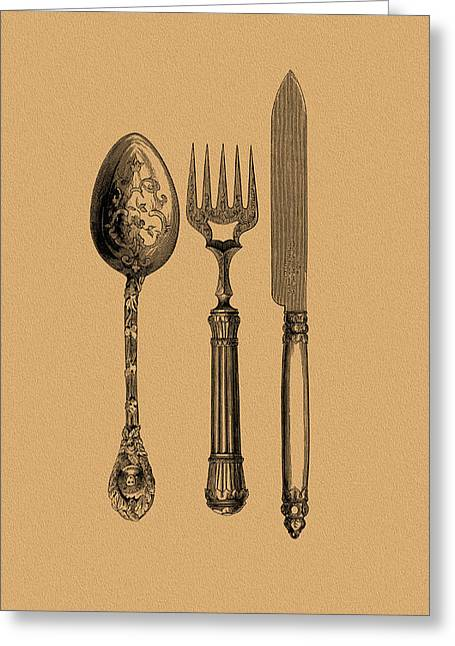 Vintage Cutlery 1 Greeting Card