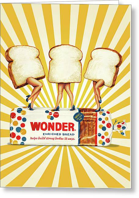 Wonder Women Greeting Card by Kelly Gilleran