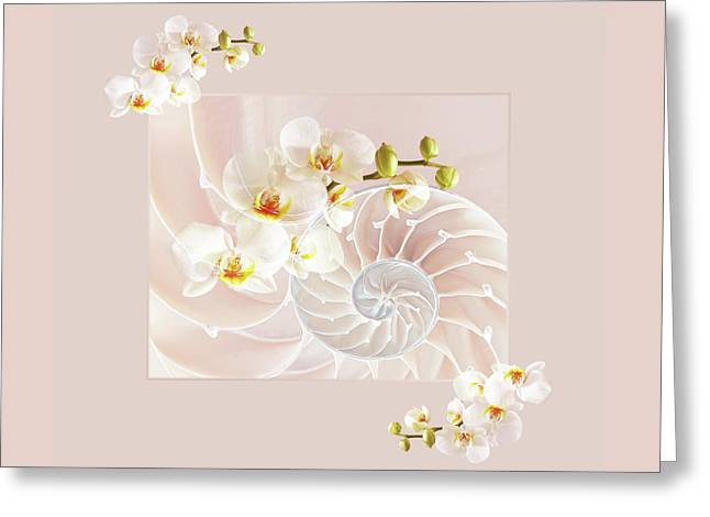 Soft Pink Fusion Greeting Card by Gill Billington