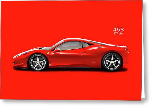 The Ferrari 458 Italia Greeting Card
