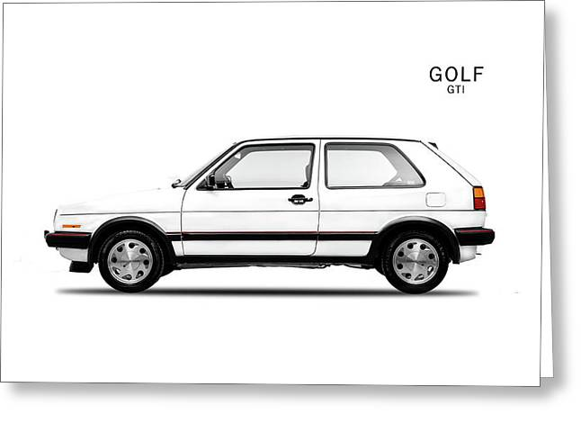 Vw Golf Gti Greeting Card by Mark Rogan