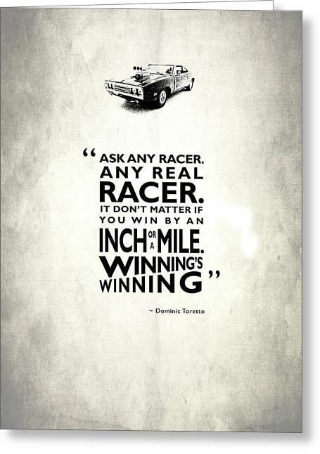 Ask Any Racer Greeting Card