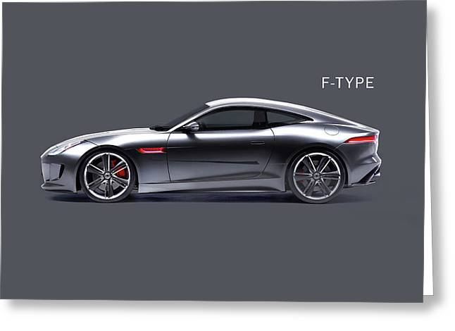 The F Type Greeting Card by Mark Rogan