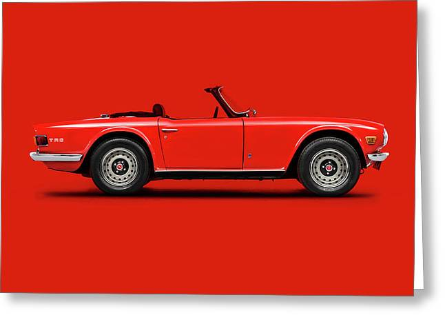 Triumph Tr6 In Red Greeting Card