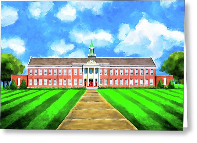 Old Main - Andalusia High School Greeting Card