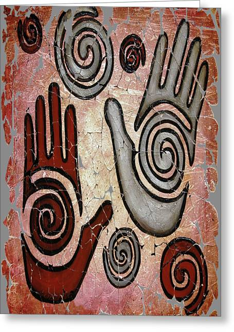 Healing Hands Fresco  Greeting Card